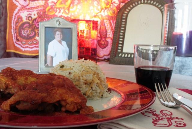 Curry de pollo con tomate y arroz Pilaf de Carmen