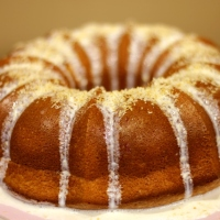 Coconut tea bundt cake