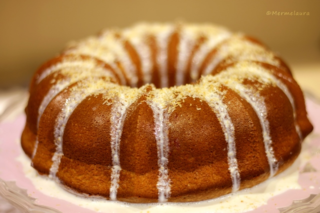 Coconut tea cake.