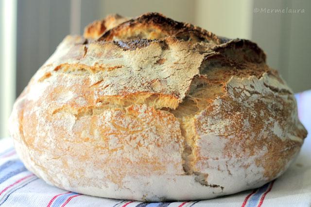 Hogaza de pan casero.
