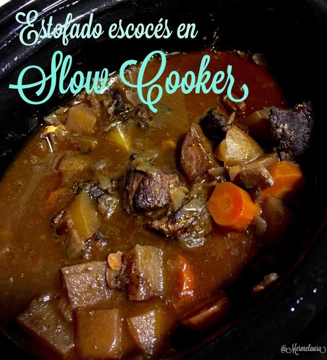 Estofado escocés de ternera en slow cooker